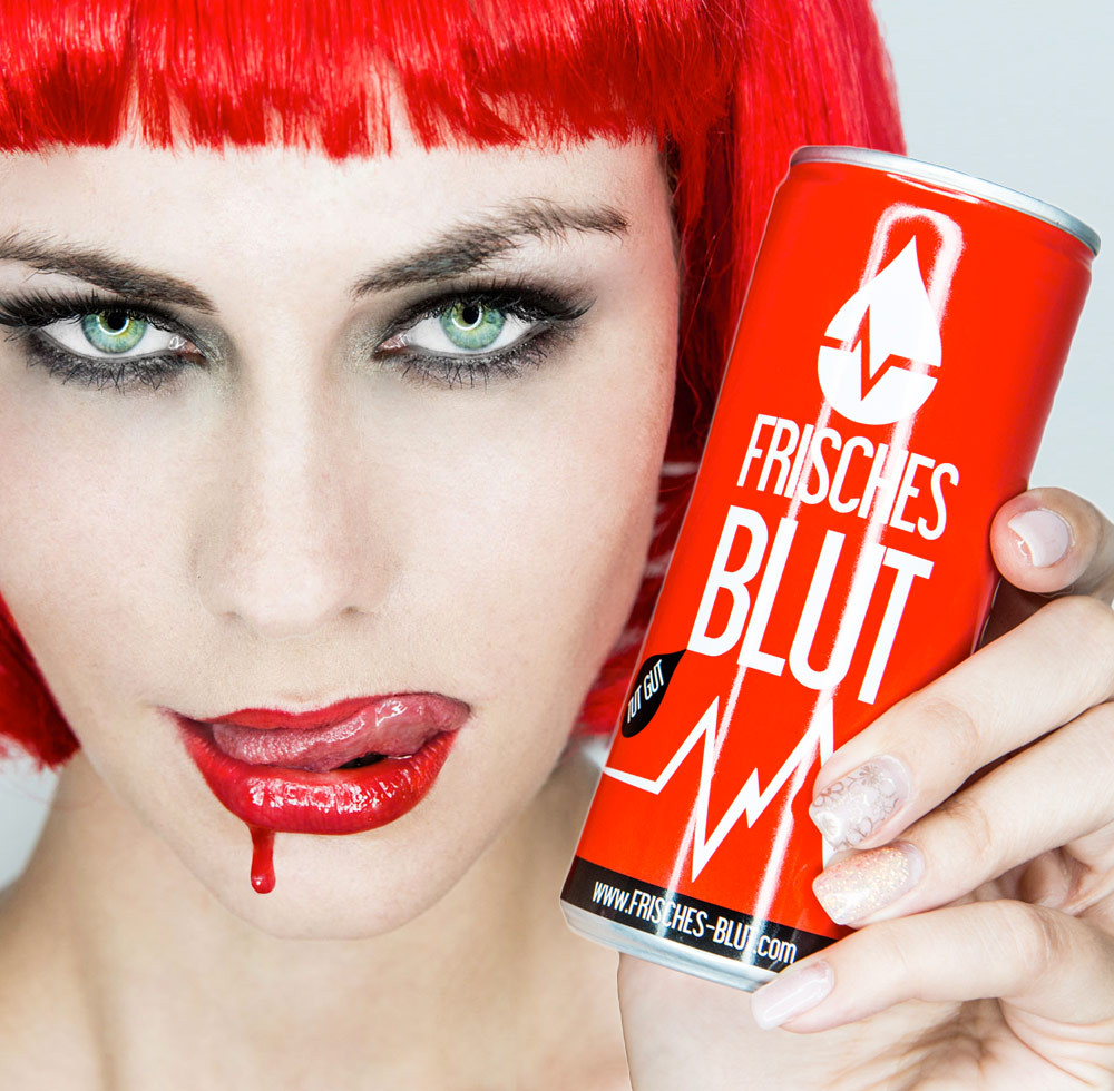 Frisches Blut Energy Drink Marketing Agentur