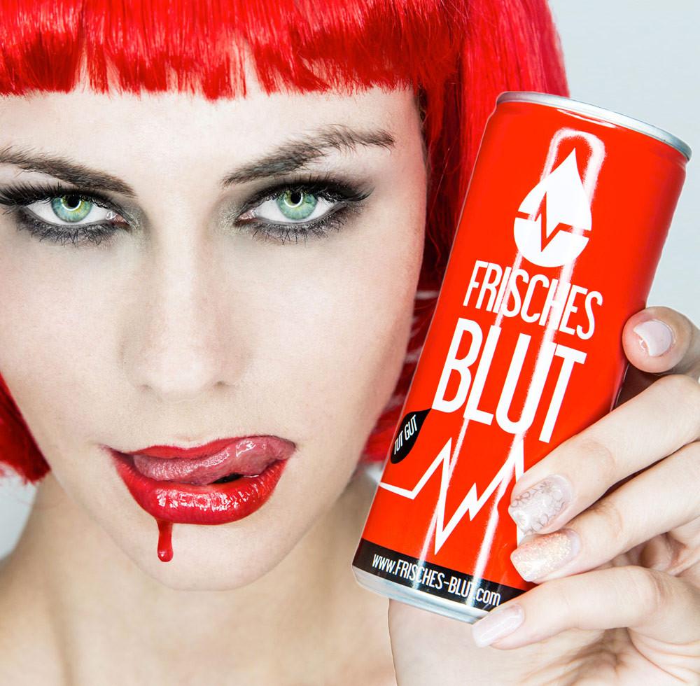 Frisches Blut Energy Drink Marketing Agentur