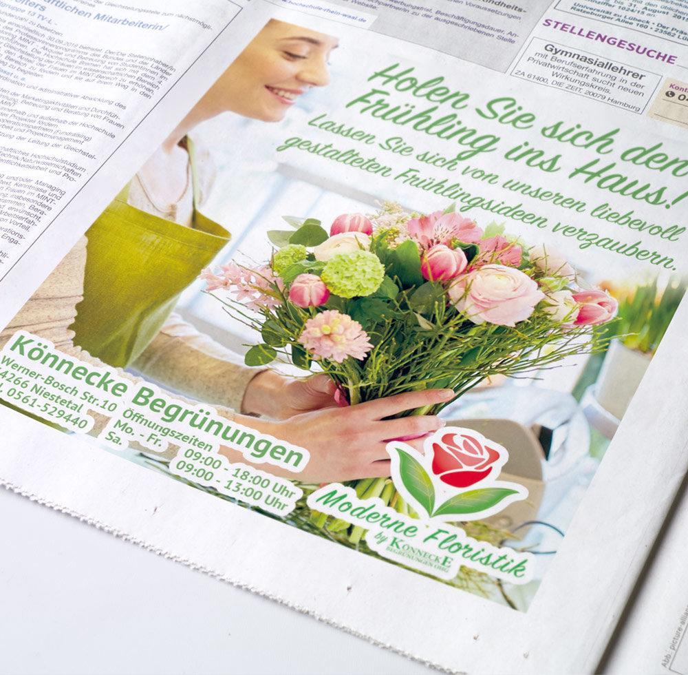 zeitungsanzeige printkampagne